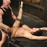 Busty Carmella Bing is very well known in the industry but, this was to be her first ever bondage shoot.